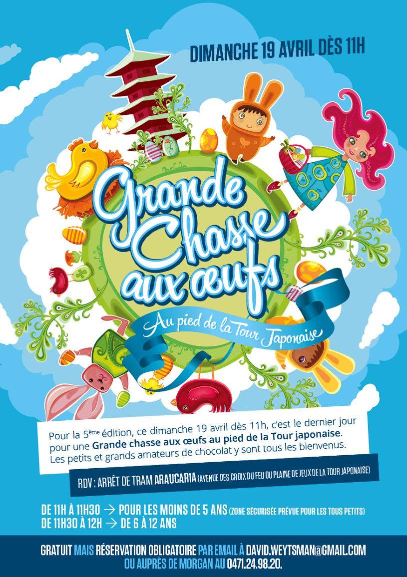 TRADITIONNELLE CHASSE AUX OEUFS TOUR JAPONAISE – 19 AVRIL 2015