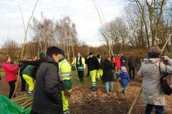 Participation à la plantation d'un nouveau secteur de la Forêt urbaine à Neder-Over-Heembeek