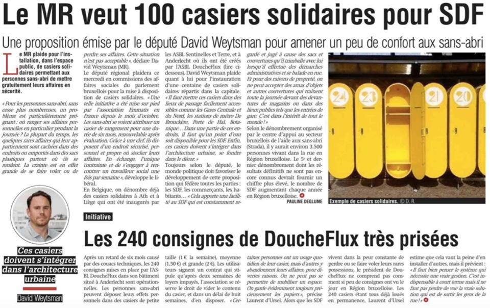 100 nouveaux casiers solidaires à Bruxelles  !