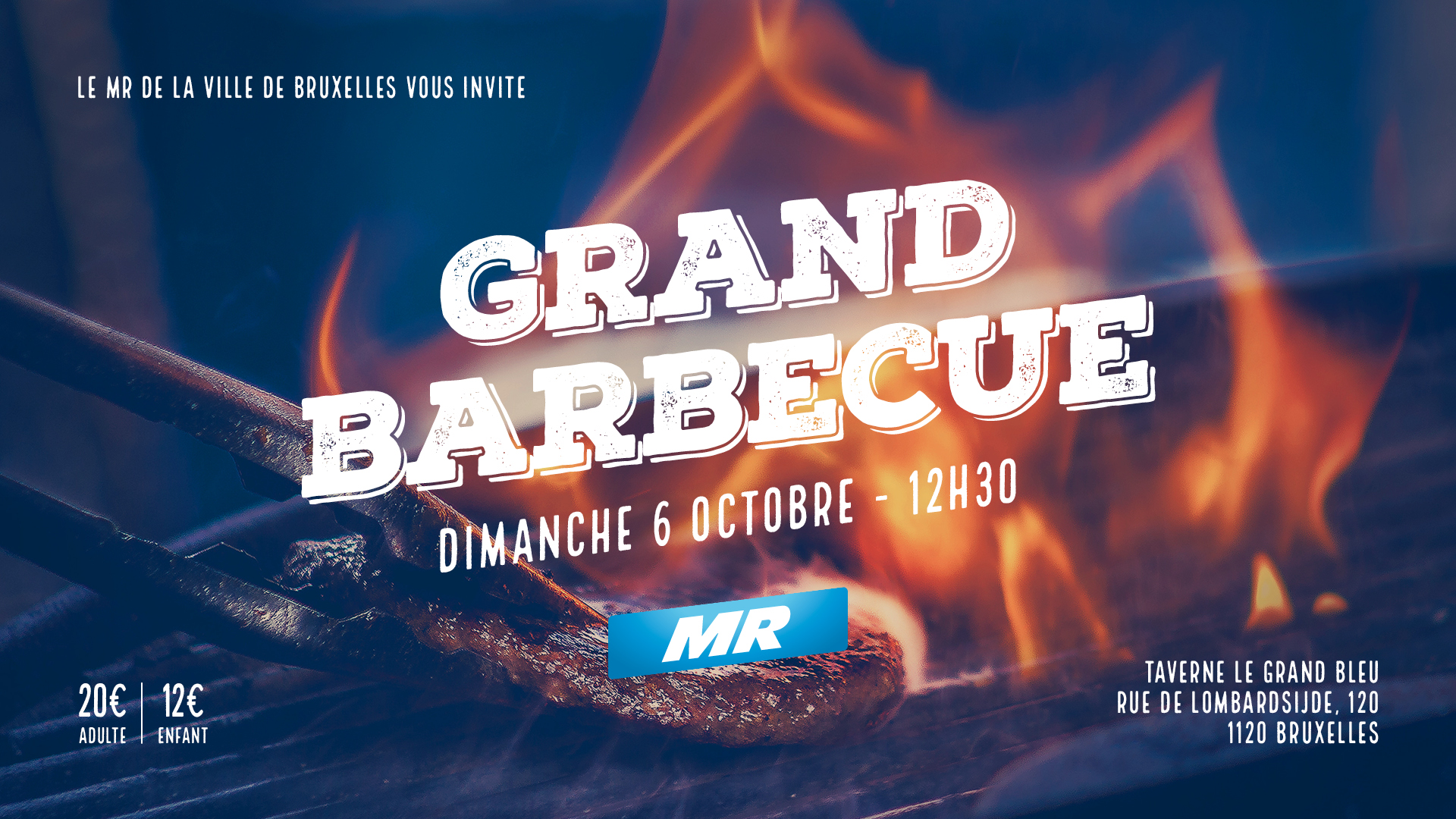 Grand barbecue du MR de la la Ville de Bruxelles