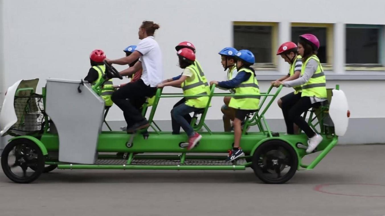 Le vélo-bus : pas pour tout de suite à Bruxelles
